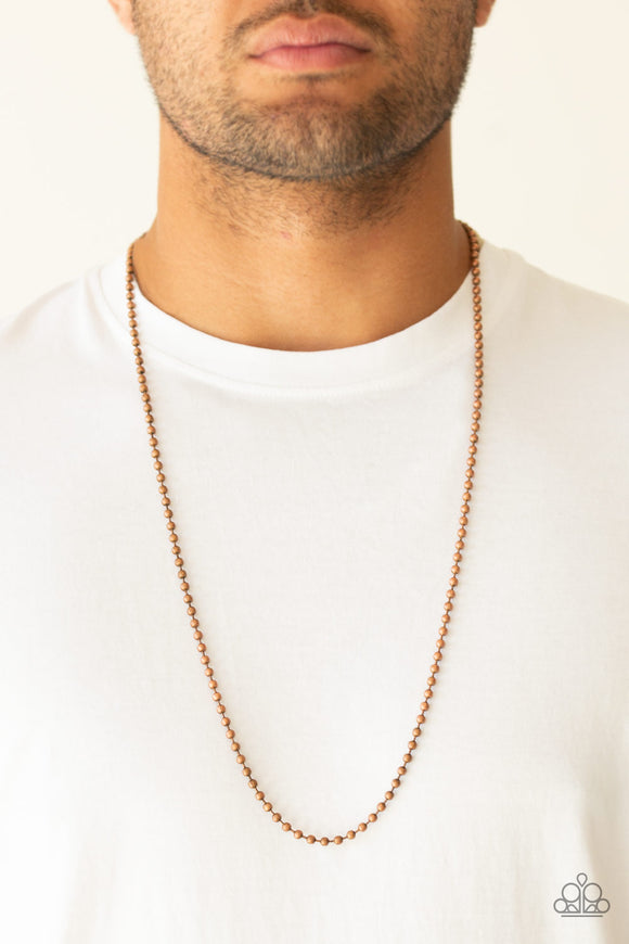 Paparazzi Accessories Cadet Casual - Copper Men's Necklace - Mel's Pretty It Up Boutique