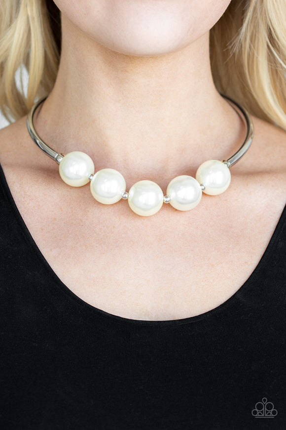 Paparazzi Accessories Welcome To Wall Street - White Necklace EXCLUSIVE - Mel's Pretty It Up Boutique