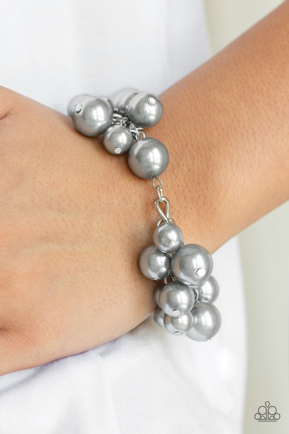 Paparazzi Accessories Girls In Pearls - Silver Bracelet - Mel's Pretty It Up Boutique