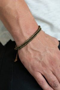 Paparazzi Accessories AWOL - Brass Men's Bracelet - Mel's Pretty It Up Boutique