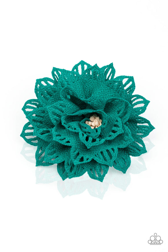 Paparazzi Accessories Yes I TROPICANA - Green Hair Accessories - Mel's Pretty It Up Boutique