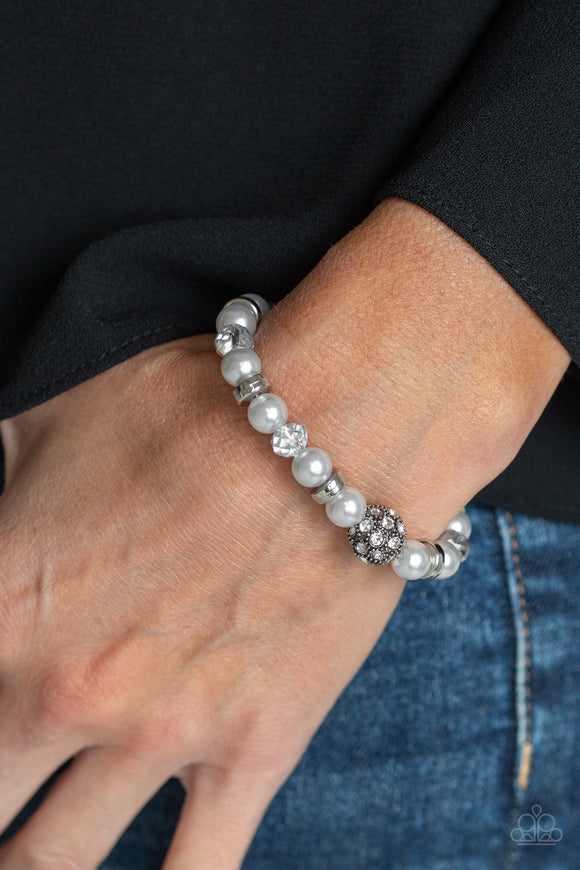 Paparazzi Accessories Twinkling Timelessness - Silver Bracelet - Mel's Pretty It Up Boutique