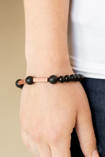 Paparazzi Accessories Metro Meditation Copper Urban Bracelet