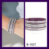 Paparazzi Accessories Rebel In Rhinestones - Purple Snap/Wrap Bracelet