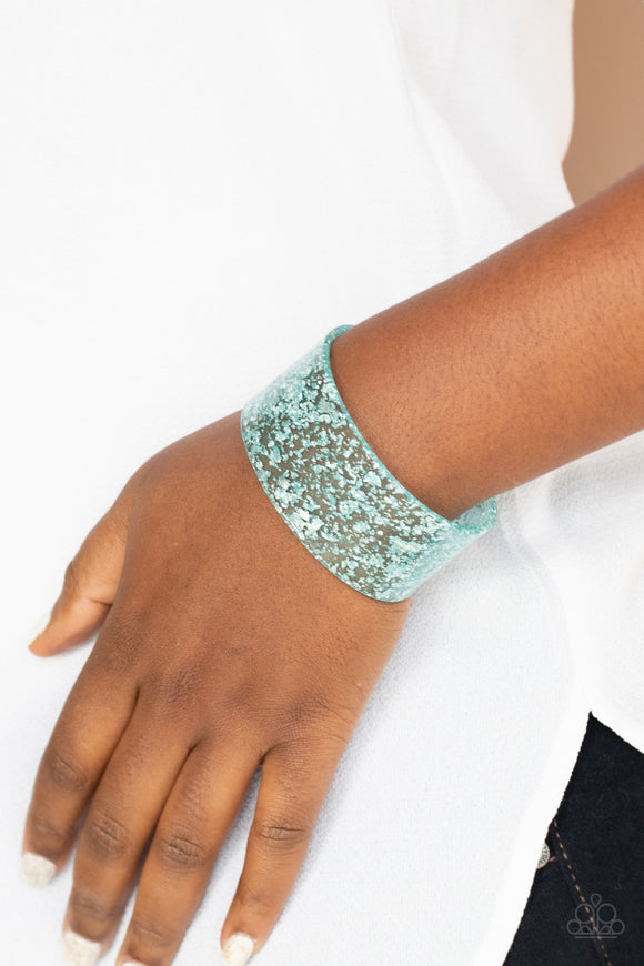 Paparazzi Accessories Snap, Crackle, Pop! - Blue Bracelet