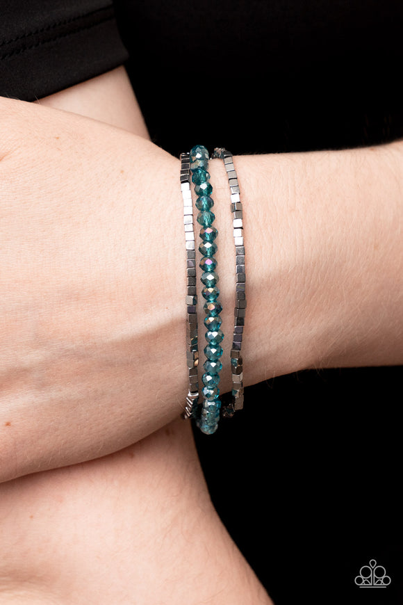 Paparazzi Accessories Show Them The DIOR! - White Bracelet - Mel's Pretty It Up Boutique