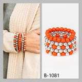 Paparazzi Accessories Pop-YOU-lar Culture - Orange Bracelet - Mel's Pretty It Up Boutique