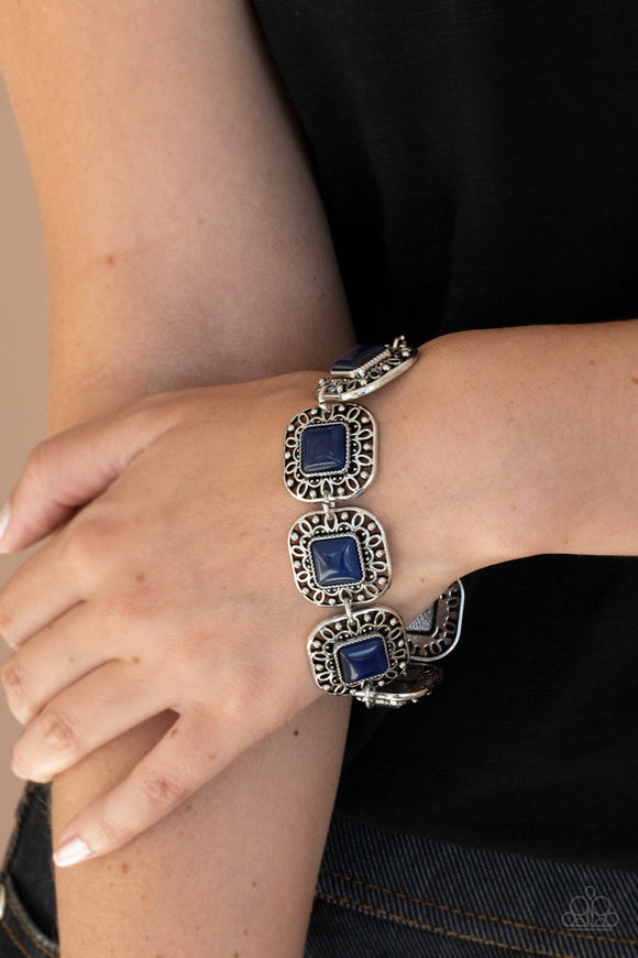 Paparazzi Accessories Modern Magnificence - Blue Bracelet - Mel's Pretty It Up Boutique