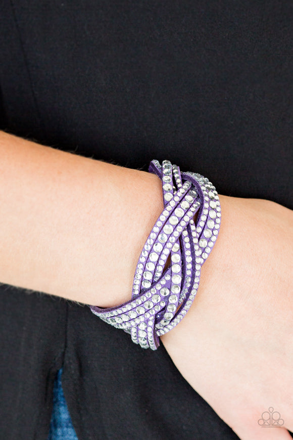 Paparazzi Accessories Bring On The Bling - Purple Snap/Wrap Bracelet - Mel's Pretty It Up Boutique