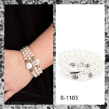 Paparazzi Accessories Exquisitely Elegant - White Bracelet