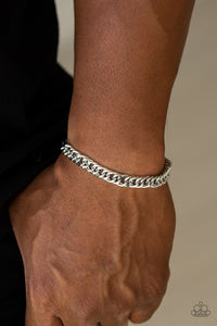 Paparazzi Accessories AWOL - Silver Men's Bracelet - Mel's Pretty It Up Boutique