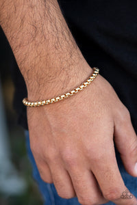 Paparazzi Accessories Metro Marathon - Gold Men's Bracelet - Mel's Pretty It Up Boutique