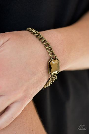Paparazzi Accessories  Command and CONQUEROR - Brass Bracelet - Mel's Pretty It Up Boutique
