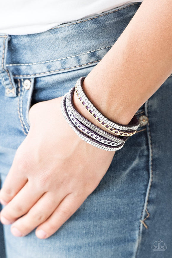 Paparazzi Accessories Fashion Fiend - Purple Snap/Wrap Bracelet - Mel's Pretty It Up Boutique