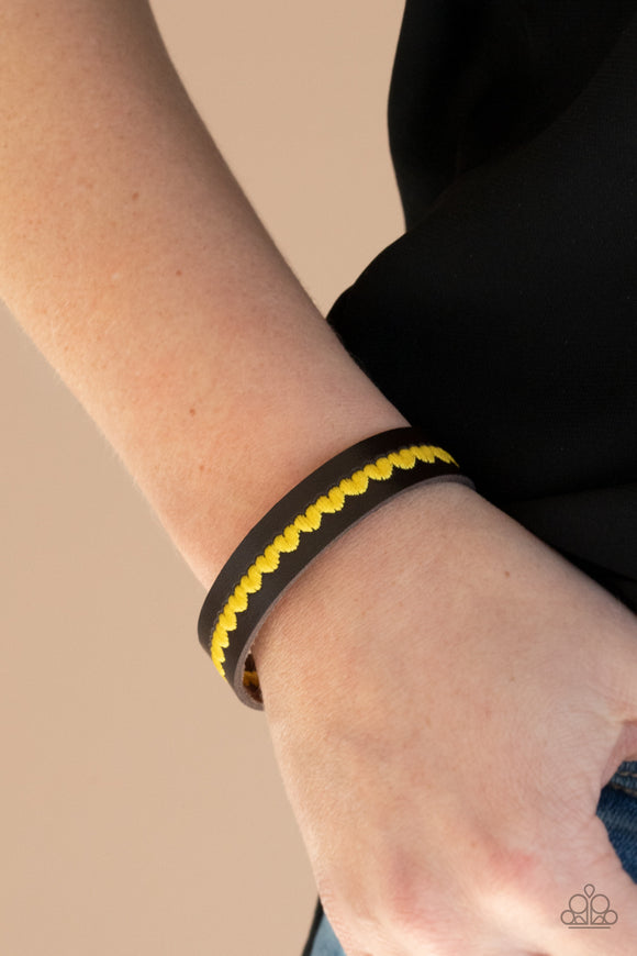 Paparazzi Accessories Made With Love - Yellow Snap/Wrap Bracelet