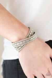 Paparazzi Accessories Shimmer and Sass - Brown Snap/Wrap Bracelet - Mel's Pretty It Up Boutique