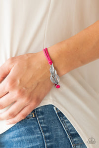 Paparazzi Accessories Faster Than FLIGHT - Pink Bracelet - Mel's Pretty It Up Boutique