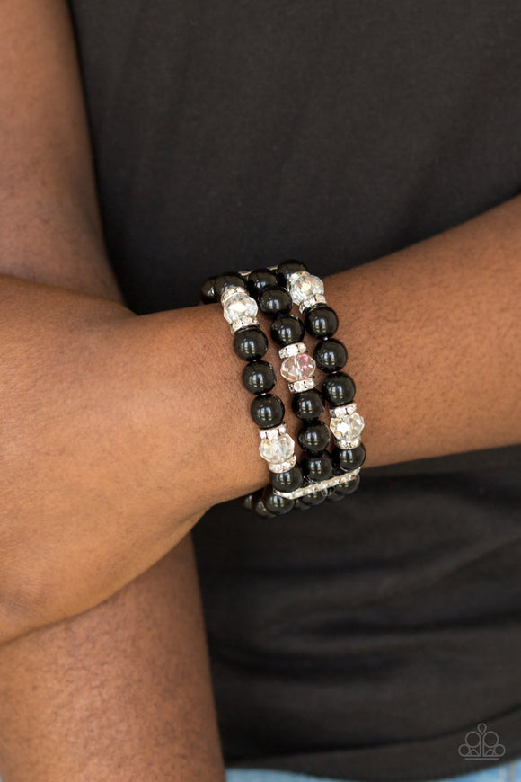 Paparazzi Accessories Undeniably Dapper - Black Bracelet - Mel's Pretty It Up Boutique