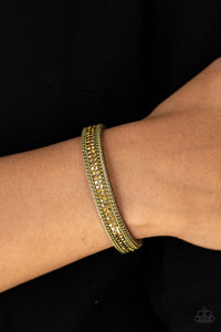 Paparazzi Accessories Babe Bling - Brass Snap/Wrap Bracelet - Mel's Pretty It Up Boutique