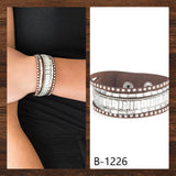 Paparazzi Accessories Rock Star Rocker - Brown Snap/Wrap Bracelet - Mel's Pretty It Up Boutique