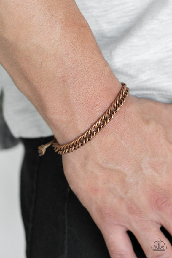 Paparazzi Accessories AWOL - Copper Men's Bracelet - Mel's Pretty It Up Boutique