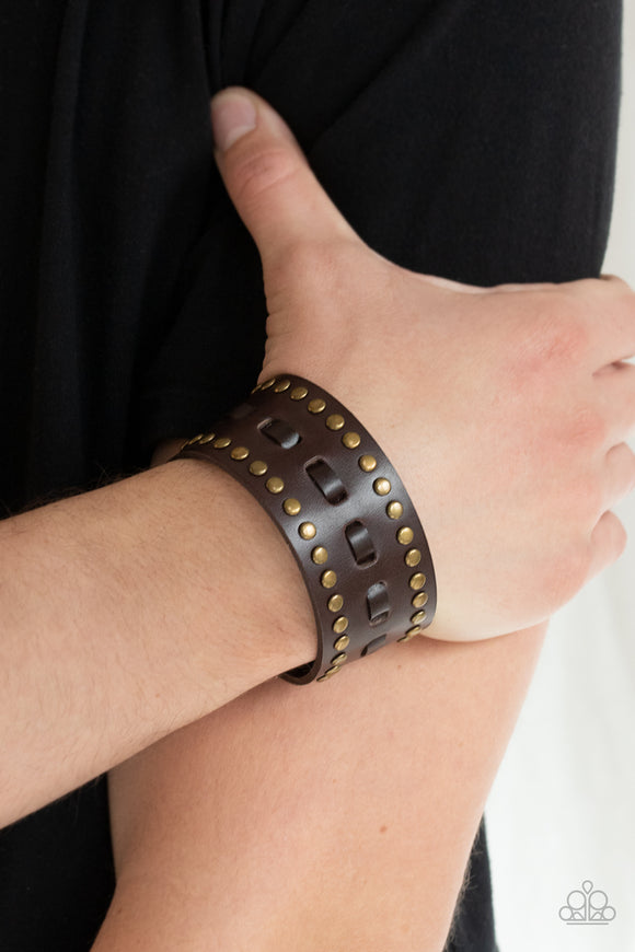 Paparazzi Accessories A ROAM With A View - Brown Snap/Wrap Bracelet
