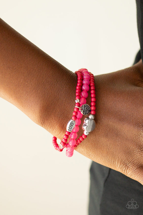 Paparazzi Accessories Really Romantic - Pink Bracelet