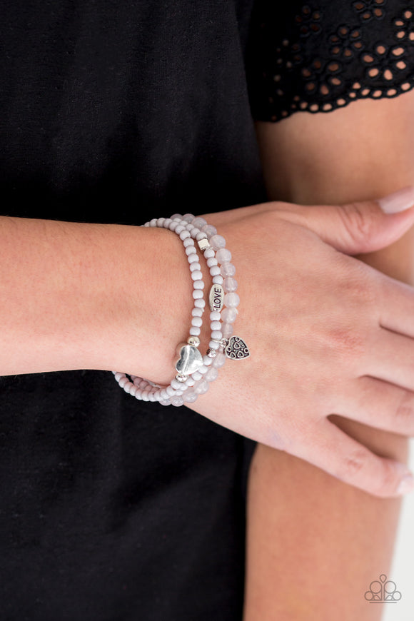 Paparazzi Accessories Really Romantic - Silver Bracelet