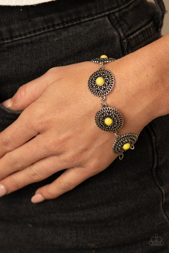 Paparazzi Accessories Mojave Mandalas - Yellow Bracelet
