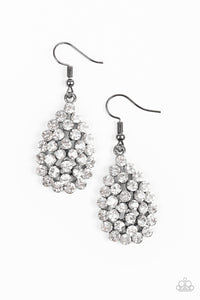 Paparazzi Accessories Sparkling Sparkle-Naire - Black Earring - Mel's Pretty It Up Boutique