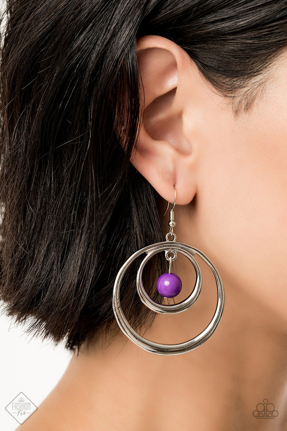 Paparazzi Accessories Diva Pop - Purple Earring - Mel's Pretty It Up Boutique
