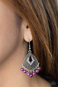 Paparazzi Accessories Gracefully Gatsby - Purple Earrings - Mel's Pretty It Up Boutique