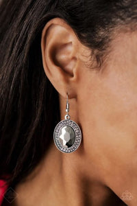 Paparazzi Accessories Rebel Highness - Silver Earring - Mel's Pretty It Up Boutique