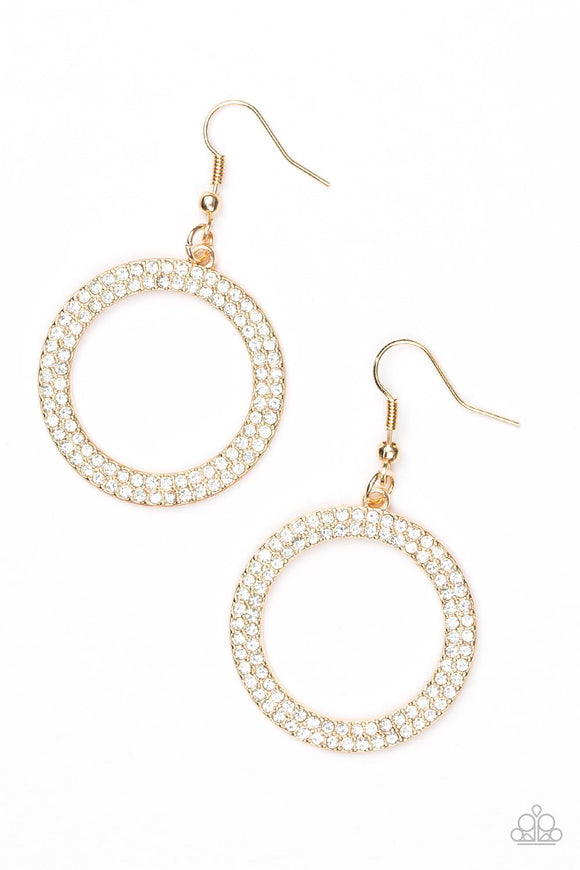 Paparazzi Accessories Bubbly Baba - Gold Earring - Mel's Pretty It Up Boutique