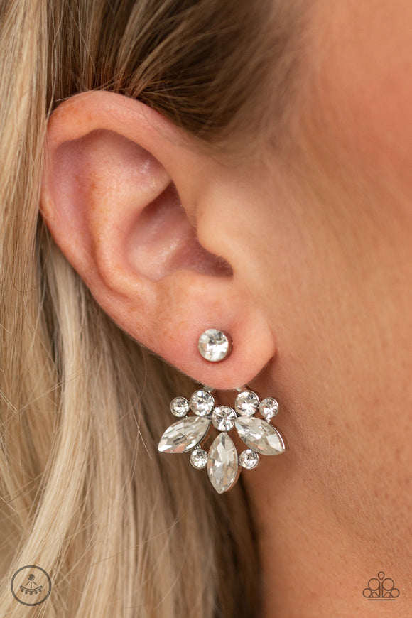 Paparazzi Accessories Crystal Constellations - White Earring - Mel's Pretty It Up Boutique