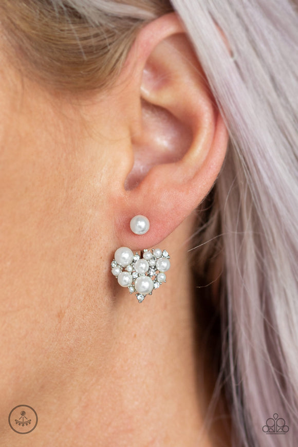 Paparazzi Accessories Star-Studded Success - White Earring