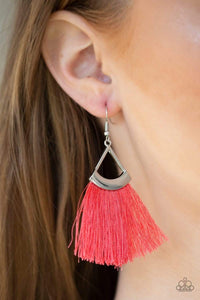 Paparazzi Accessories Tassel Tuesdays - Orange Earrings