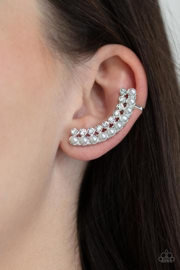 Paparazzi Accessories Pearly Poise - White Earring - Mel's Pretty It Up Boutique