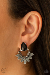 Paparazzi Accessories Crystal Canopy - Black Earrings