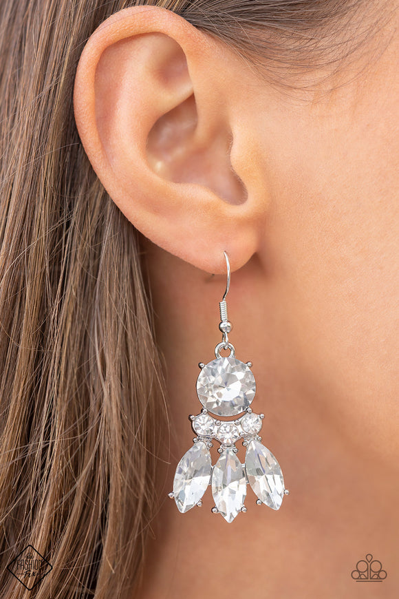 Paparazzi Accessories Totally Tran-QUILL - Blue Earrings