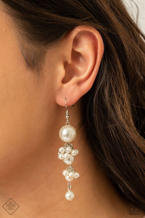Paparazzi Accessories Ageless Applique - White Earrings
