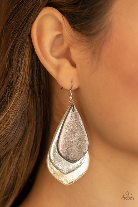 Paparazzi Accessories GLISTEN Up! - Silver Earrings