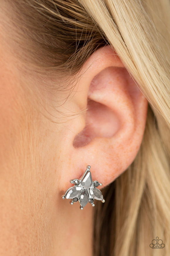 Paparazzi Accessories Stellar Sheen - Silver Earrings