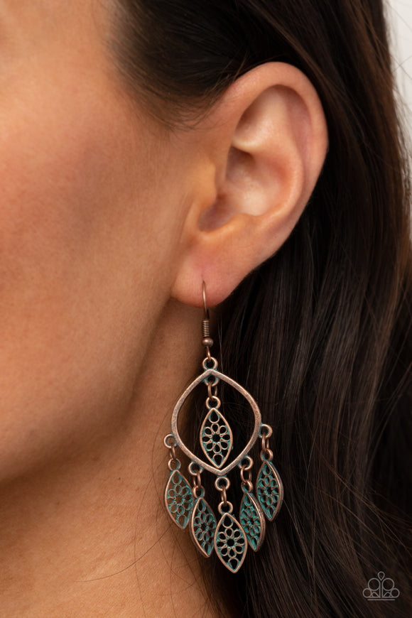 Paparazzi Accessories Artisan Garden - Copper Earrings