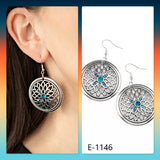 Paparazzi Accessories Mega Medallions - Blue Earrings