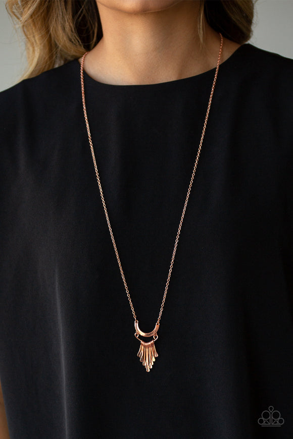 Paparazzi Accessories Trendsetting Trinket - Copper Necklace - Mel's Pretty It Up Boutique