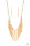 Paparazzi Accessories Cue The Fireworks - Gold Necklace