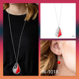 Paparazzi Accessories Impressive Edge - Red Necklace - Mel's Pretty It Up Boutique