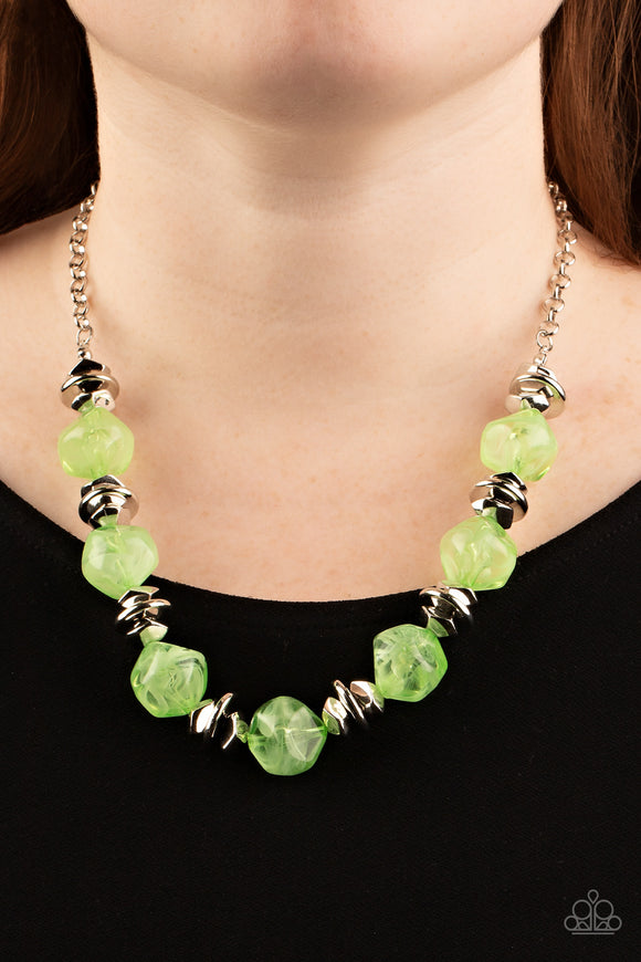 Paparazzi Accessories SLEEK and Destroy - Silver Necklace - Mel's Pretty It Up Boutique