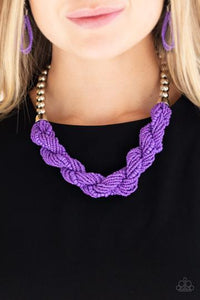 Paparazzi Accessories Savannah Surfin - Purple Necklace - Mel's Pretty It Up Boutique